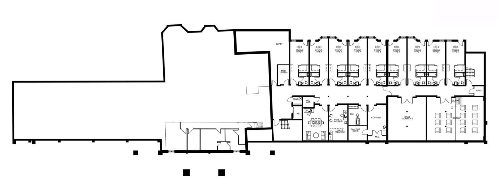 Plan d'étage - Demi Sous-Sol