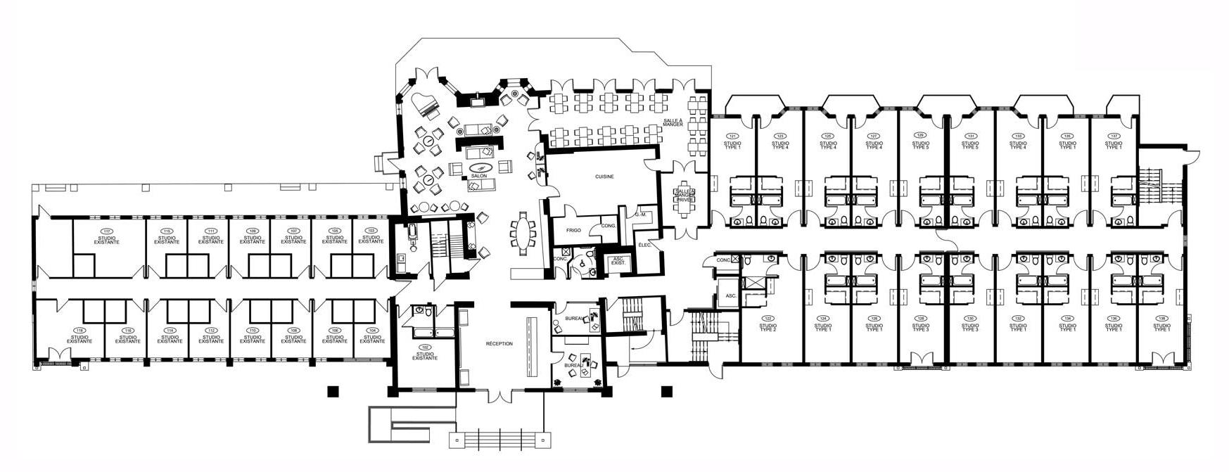 Plan d'étage - Rez-de-Chaussée